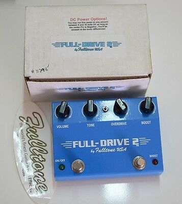 FULLTONE FULLDRIVE 2 non MOSFET OVERDRIVE GUITAR PEDAL PEDALE CHITARRA WW SHIP