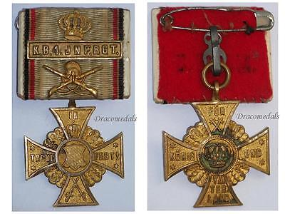 GErmany WW1 Regimental Cross Honor Bavaria 1st Infantry Reg Decoration 1914 1918