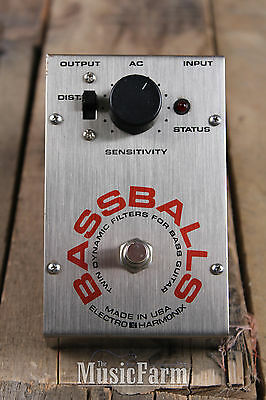 Vintage Electro Harmonix BassBalls Bass Guitar Effects Pedal Twin Dynamic Filter