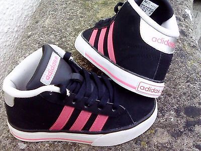 ADIDAS NEO DAILY VULC MID baby/toddlers hi tops/trainers size 10 vgc