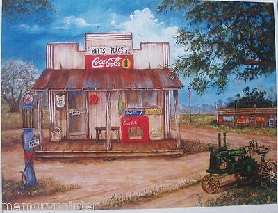 COUNTRY STORE, BETTS PLACE  5 x 7 art reproduction, Original artist signed  NEW