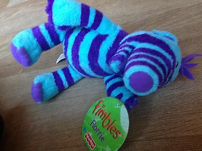 Flimble Florrie Charecter Soft Toy Measures 14Cm Tall Purple And Blue Fimbles Wi