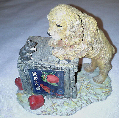1990 Hamilton Collection Playtime Puppy Titled Double Take Figurine  Box  #4