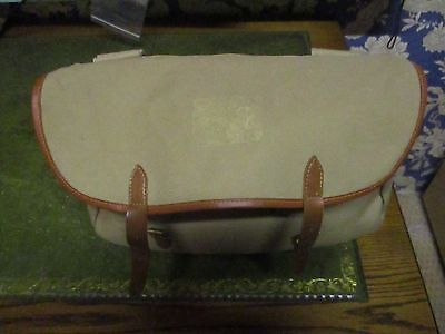 Used Brady Dart Leather & Canvas Traditional Trout Fishing Bag with liner