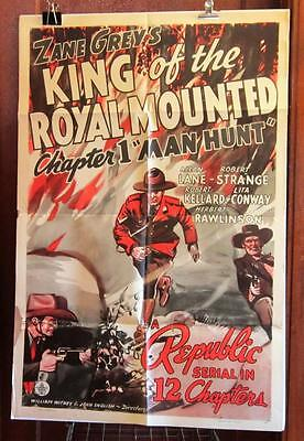 1940 KING OF THE ROYAL MOUNTED Chapter 1 ONE-SHEET Movie Poster