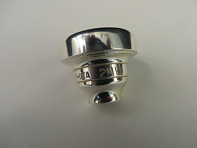 Warburton 2MW Top, Silver Trumpet Mouthpiece Top Only Only  #883