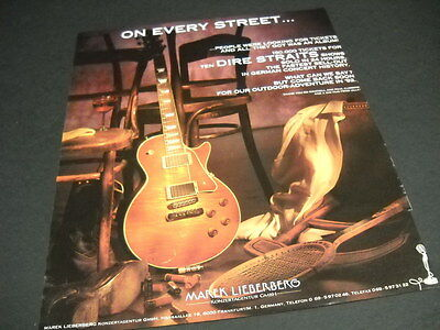 DIRE STRAITS are ON EVERY STREET vintage PROMO DISPLAY AD mint condition