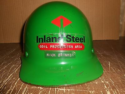 Vintage Inland Steel Fiberglass Hardhat Coil Processing