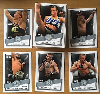 2016 Topps UFC Museum Collection COMPLETE BASE SET (45 total cards) McGregor