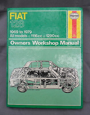 FIAT 128 ALL MODELS  1969 to 1979  HAYNES WORKSHOP MANUAL (NEW OLD STOCK)