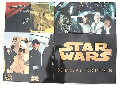 LARGE 6 STAR WARS Trilogy SPECIAL EDITION LOBBY CARDS 16 X 20 SEALED