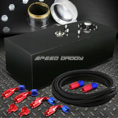 15 Gallon Top-Feed Coated Fuel Cell Gas Tank+Cap+Level Sender+Steel Line Kit