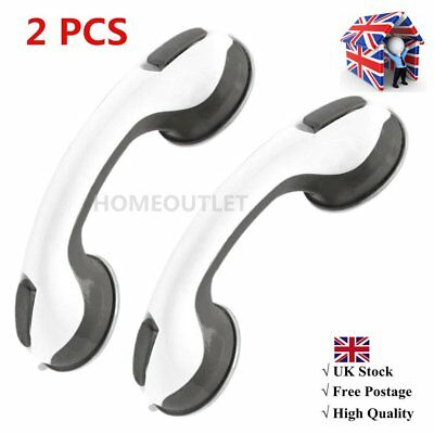 2 X Portable Twin Super Grip Rail Safety Suction Mount Handle Bar Shower Support