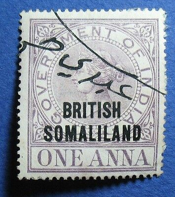 1900 1A Somaliland Protectorate Revenue Barefoot # 1 Used  Cs10616