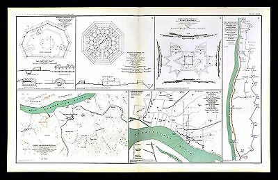 Civil War Map Fort Donelson Pickering Hyde's Ferry Memphis Nashville Tennessee