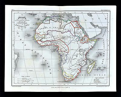 1865 Meissas & Michelot Map - Africa - Guinea Nigritie Sahara Nubia Egypt South