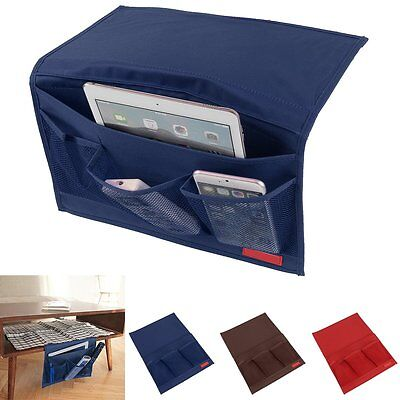 4Pocket Bedside Bed Sofa Storage Organizer Case Books Phone Hanging Bag Holder