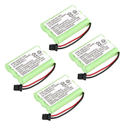 4x 3.6V 800mAh NI-MH Phone Battery for Uniden BT909 BT1001 BT1004 -Green