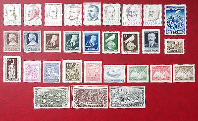 POLAND - 1949-1954 Collection of MH stamps