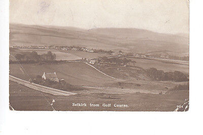 Selkirk from the Golf Course. Posted 1914 to Sapper 45677 Nichol, 80th Field Co.