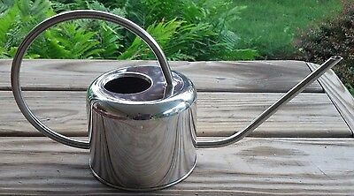 Wonderful Classic Shape Stainless Steel Metal Watering Can, New