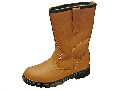 Scan Texas Dual Density Lined Rigger Boots Tan UK 9 Euro 43