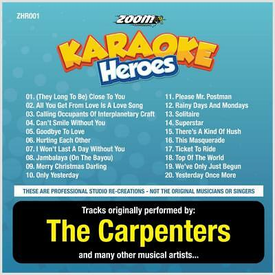Carpenters Karaoke CDG Disc - Zoom Karaoke Heroes Vol 1, 20 Tracks, CD+G, ZHR001