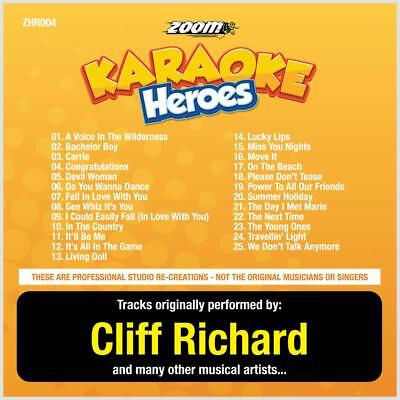 Cliff Richard Karaoke CDG - Zoom Karaoke Heroes Vol 4, 25 Tracks, CD+G, ZHR004