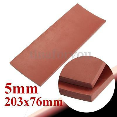 "Red 5mm 1/5"" Thickness 8"" x 3"" Rubber Sheet Chemical Resistance High Temp"