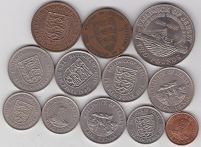 12 Jersey Base Metal Coins 1923 To 1998 In Very Fine To Near Mint Condition