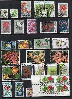 FLOWERS Thematic Stamp Collection MINT USED Ref:TS102