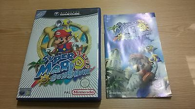 Super Mario Sunshine Gamecube Case And Manual Only No Game