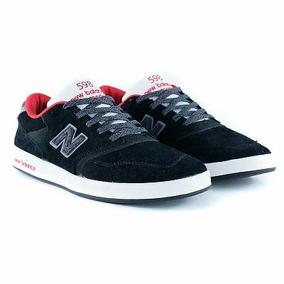New Balance Numeric x Black Sheep 598 Wool Black Skate Shoes Limited Release New