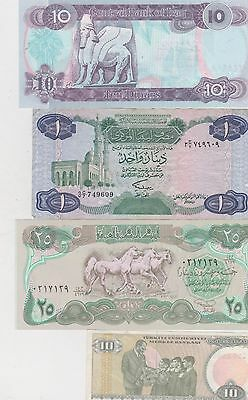8 Different Banknotes From The Middle East In Good Fine To Near Mint Condition