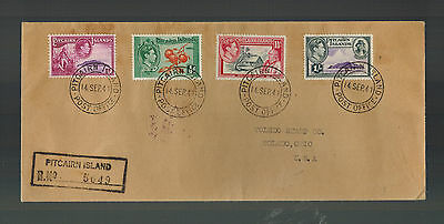 1941 Pitcairn Islands Registered Cover to USA