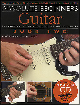 Absolute Beginners Guitar Book 2 TAB Music Book/CD Learn How to Play Method