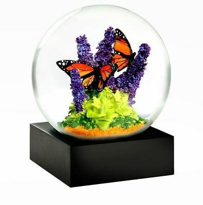 CoolSnowGlobes Monarch Butterfly Chillingly Beautiful Unique Glass Snow Globe