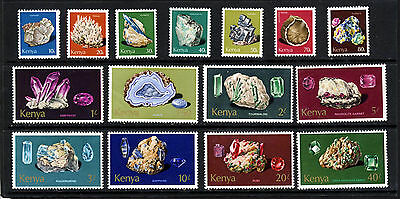 KENYA 1977 The Complete Minerals Set SG 107 to SG 121 MNH