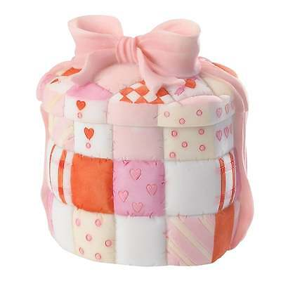 Cherished Teddies A Heart Full of Love Quilted Heart Box New Boxed 4020584