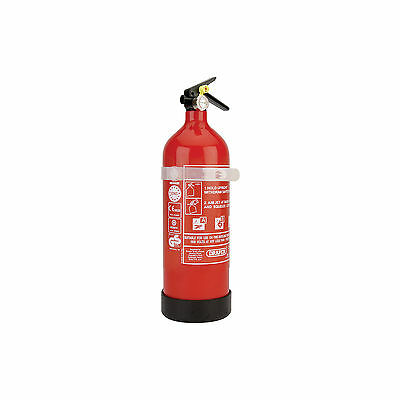 Draper 2Kg Dry Powder Fire Extinguisher for Office Kitchen Domestic Home Safety