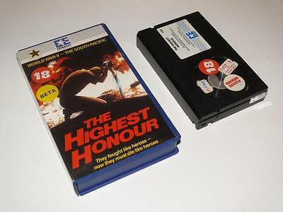 Betamax Video ~ The Highest Honour ~ Small Case Ex-Rental Pre-Cert ~ Embassy