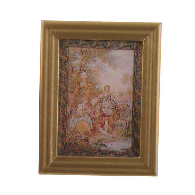 Dolls House Miniature Art Decor Framed Wall Picture SENSE OF AUTUMN Painting
