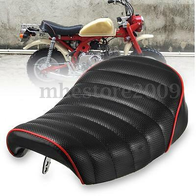 Universal Motorcycle Cafe Racer Seat Black Hump Saddle Cover For Honda MONKEY Z