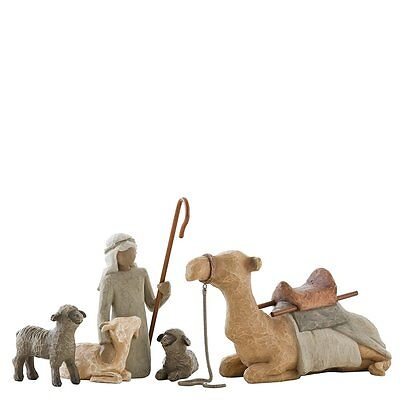 Willow Tree Shepherd and Stable Animals