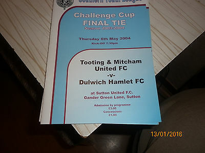 Tooting / Mitcham  V  Dulwich Hamlet   2004  Southern Youth Cup  Final