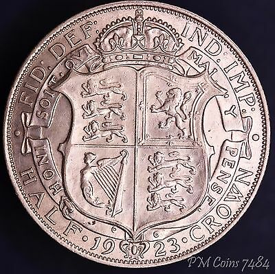 1923 George V 5th KGV Silver 500 Half Crown 2/6 excellent coin [7484]