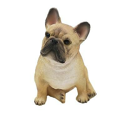 Cute Brown mini French bulldog animal model resin craft ornaments 6.5x5x7cm