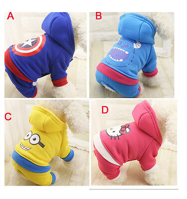 New Pet Dog Cat Puppy Sweater Hoodie Coat For Small Pet Dog Warm Costume Apparel