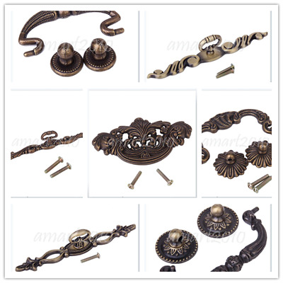 Vintage Brass Tone Cabinet Drawer Cupboard Wardrobe Pull Handle Decoration Craft