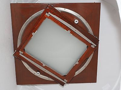 "Original wooden Deardorff  11x14 to 8x10"" rotating REDUCING film back. RARE !"